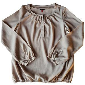 Vintage 80s Esprit Sheer Long Sleeve Blouse Shirt